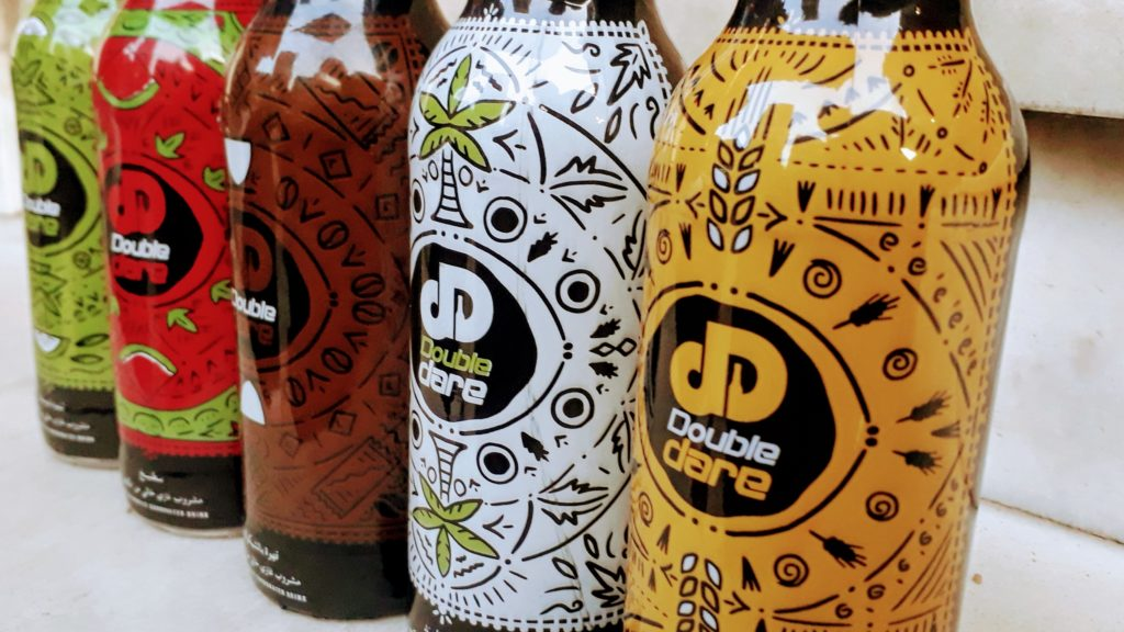 Botellas de bebidas de la marca Double Dare