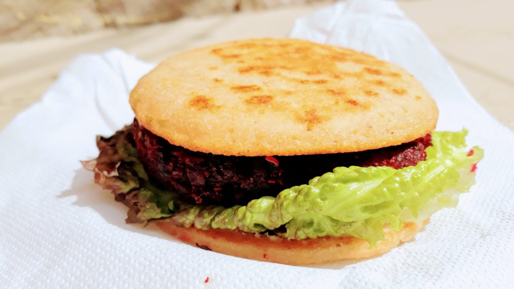 Hamburguesa vegana de Earthly Delights