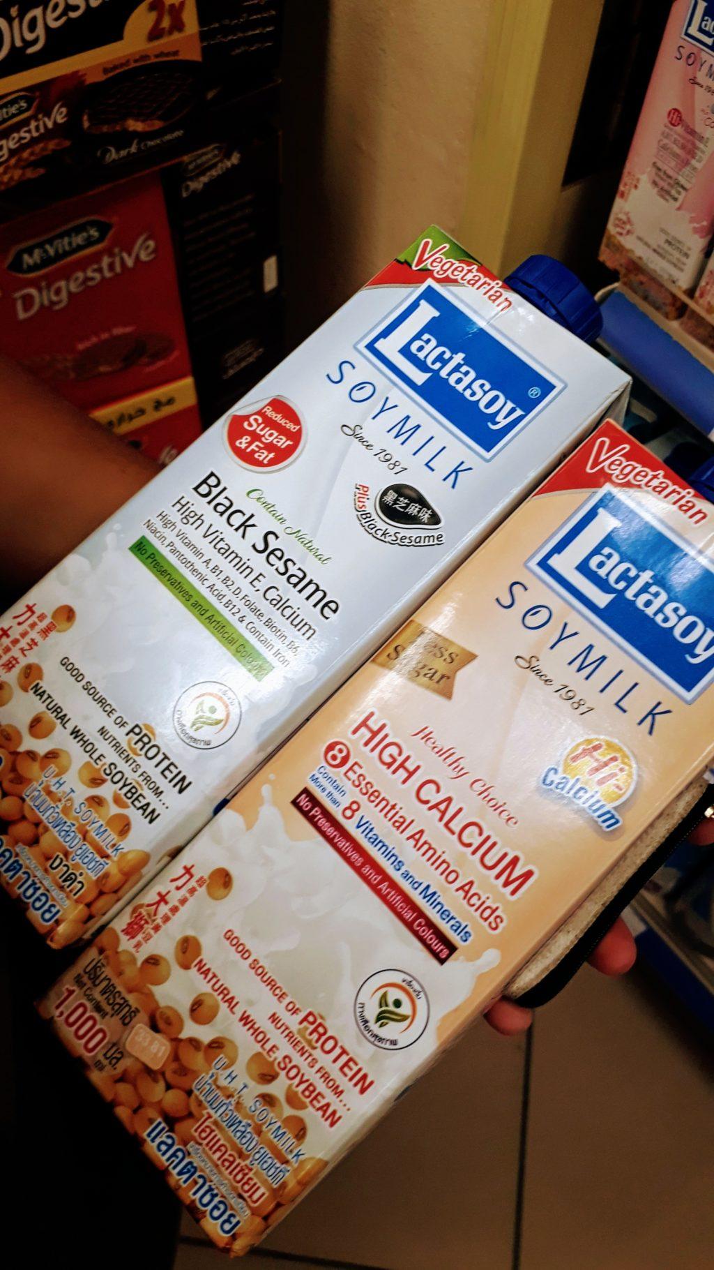 Las dos variedades veganas de leche de soja Lactasoy