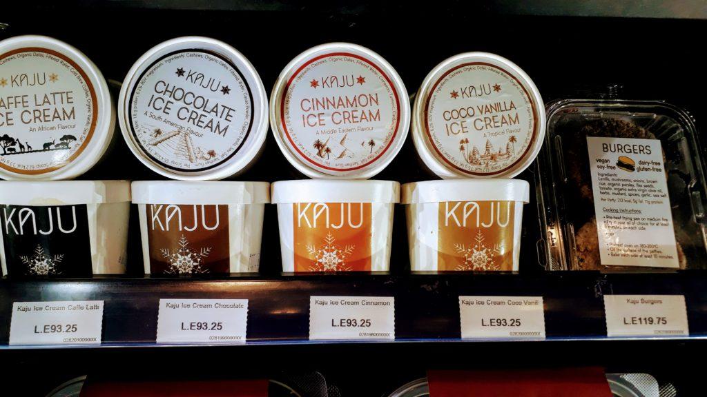 Helado KAJU en el Sunny Market