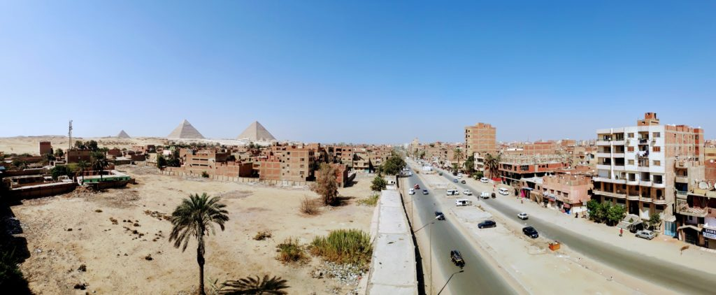 Vista desde la azotea del Pyramids Inn Motel