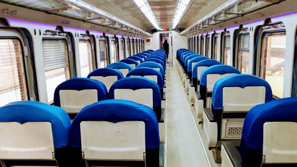 Viajando en tren por Egipto