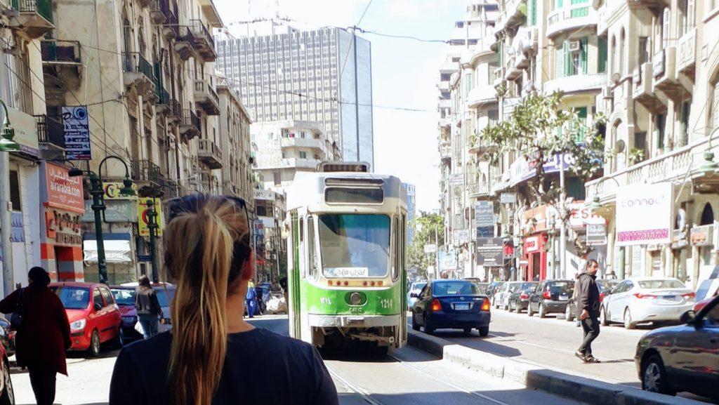 Tranvía en Alejandría
