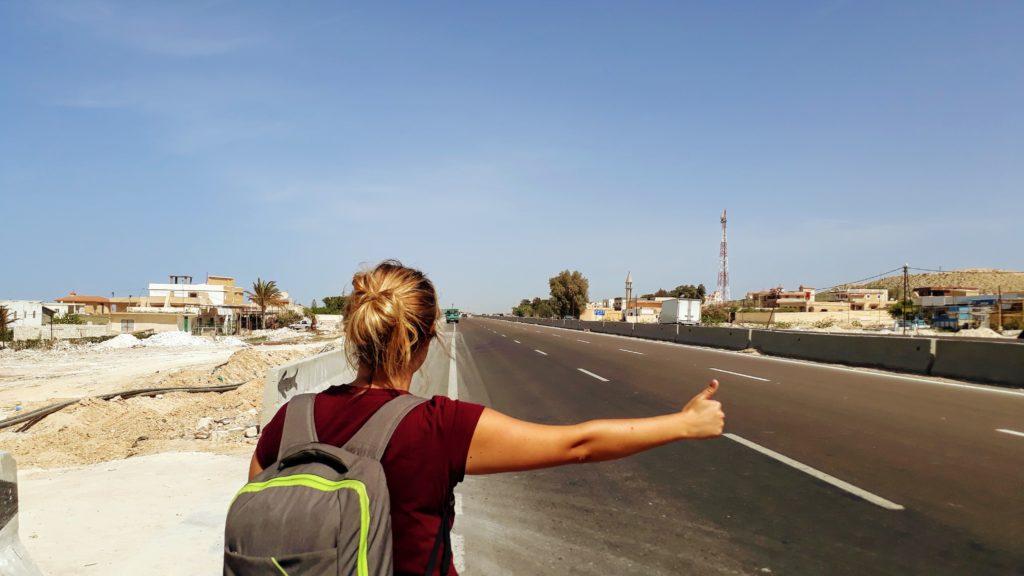 Haciendo autostop en Egipto