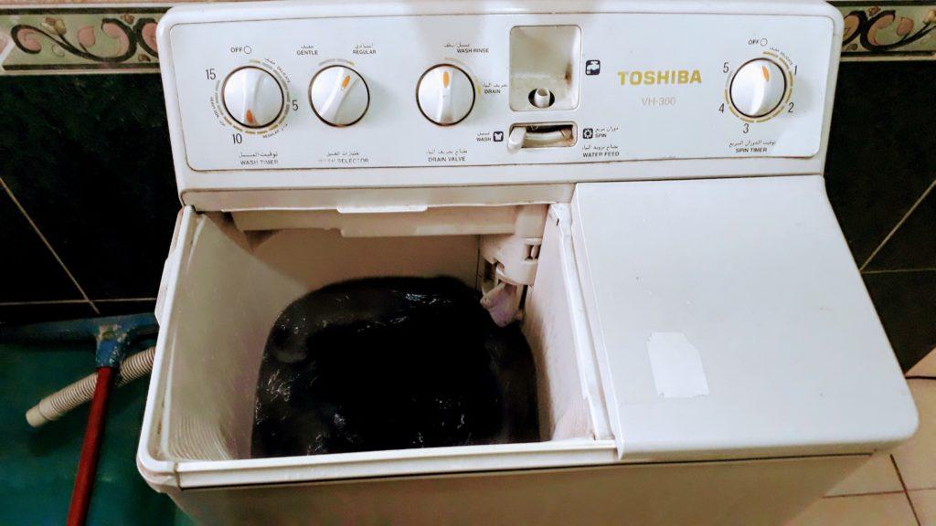 Lavadora en el alojamiento Comfort Zone