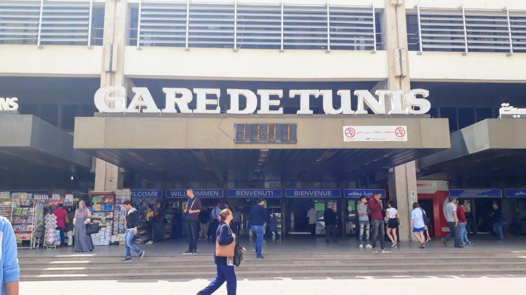 La estación central de Túnez: Gare de Tunis