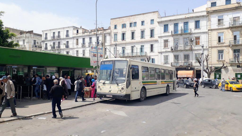 Autobús urbano en Túnez