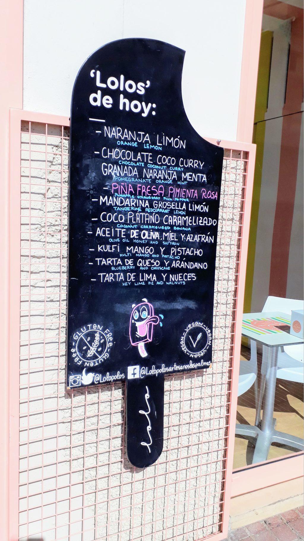 Helado vegano en Las Palmas de Gran Canaria