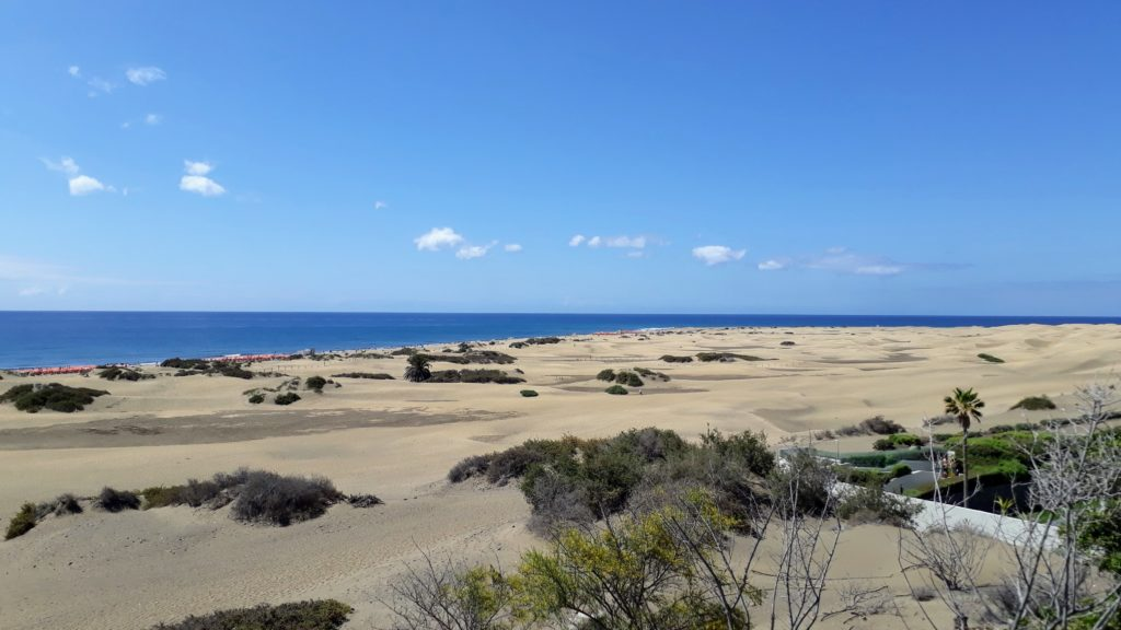Vista sobre las Dunas de Maspalomas al Atlántico