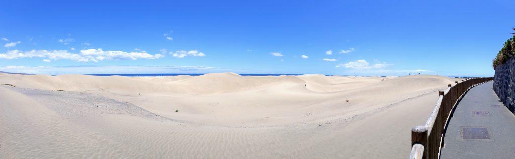 Panorama de las Dunas de Maspalmos en Gran Canaria