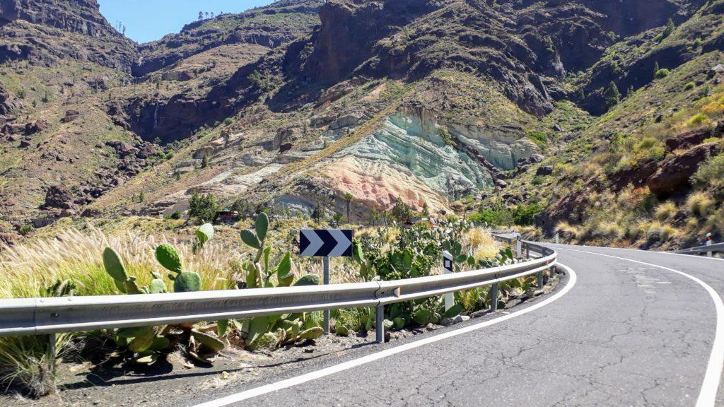 Rocas coloridas en Gran Canaria