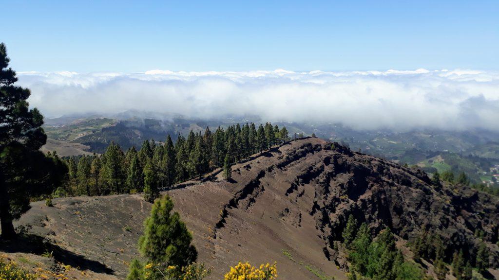 Por encima de las nubes en Gran Canaria