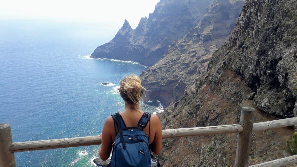 Vista sobre la costa de Tenerife