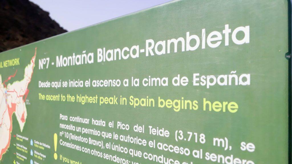 Hasta la cima: Sendero 7 conduce desde Montaña Blanca hasta Pico del Teide, el pico más alto de España
