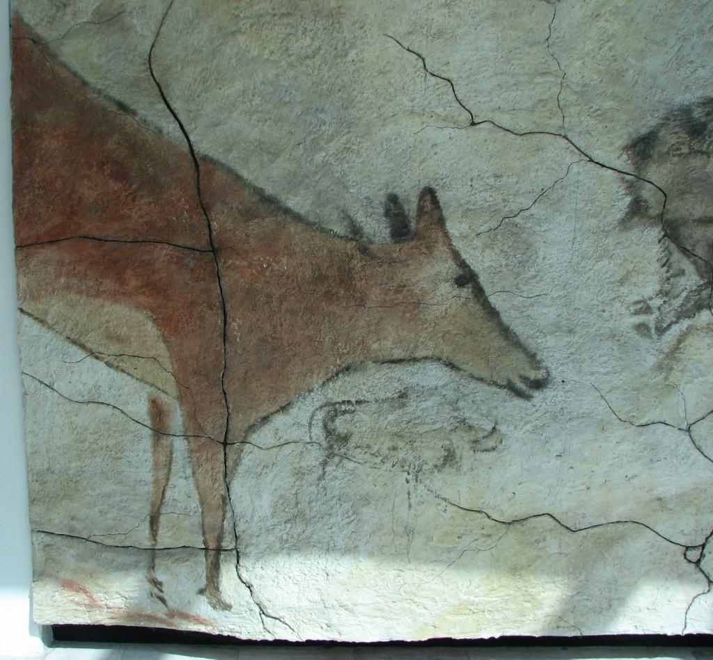 Reproducción de una pintura de la cueva de Altamira