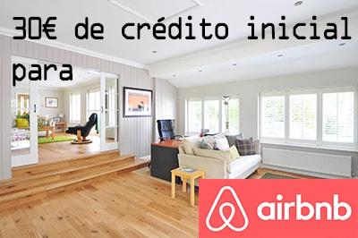 30€ de crédito inicial para airbnb
