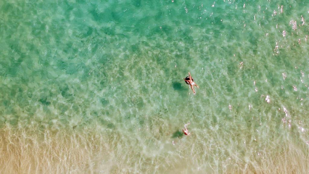 Mar cristalino en Playas de Sotavento